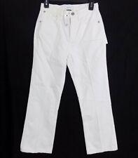 Current/Elliott The Vanessa High-Rise Cropped Straight-Leg Jeans White MSRP $248