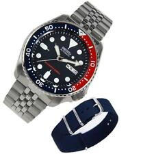 Seiko Automatic Stainless Jubilee SKX009 SKX009K2 Divers Watch EXTRA Nylon Band