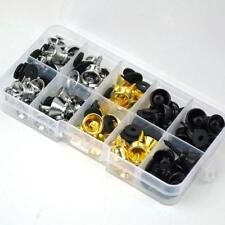 50 Sets Guitar Strap Nail Pins Lock Button Screw Flat Head Stable Rubber Washer