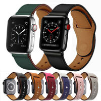Genuine Leather Wrist Band Strap for Apple Watch Series 5 4 3 2 40/44mm 38/42mm