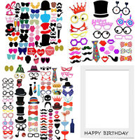 Photo Booth Fun Selfie Props Moustache Goggles Frame Birthday Wedding Party