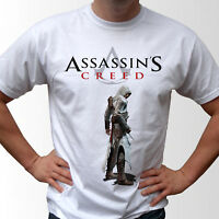 Assassins Creed white t shirt game top design - mens and kids sizes