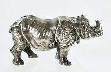 Sterling Silver Miniature Rhino Sculpture Buccellati Tiffany