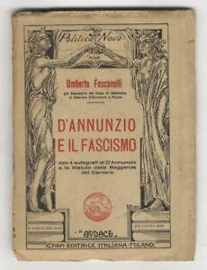 D'Annunzio e il fascismo.