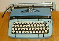 Vintage Smith Corona Galaxie Twelve 12 XII Two-Tone Blue Portable Typewriter