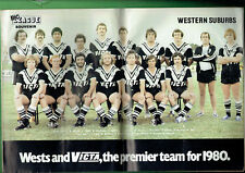 #HH1.  RUGBY BIG  LEAGUE MAGAZINE- 2-8 APRIL 1980, WESTERN SUBURBS PINUP