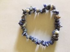 Sodalite Chips Stretch Bracelet Intuition Truth Logic Clarity AUS SELLER