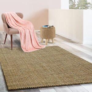 Jute Läufer Natur Teppich Urbano | Bouclé | Handgewebt | 6 Größen | 4 Farben