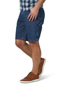 "Men's Wrangler Carpenter Denim Shorts Blue Jeans 10"" inseam Size 46 NWT"