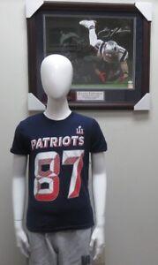 Rob Gronkowski #87 New England Patriots Super Bowl LI Youth T-Shirt NWT By NFL