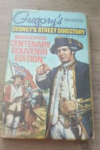 1969 Gregorys SYDNEY Street Directory 34th Ed 2ND CENTENARY SOUVENIR EDITION