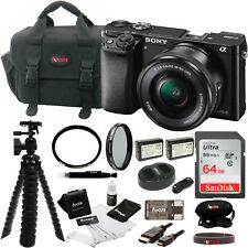 Sony Alpha a6000 ILCE-6000L/B ILCE6000LB 24.3MP Interchangeable Lens Camera Kit