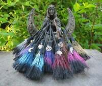 ONE Small Witch's Altar Broom MINIATURE Broom Witchcraft Wicca Car Travel Charm