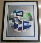 Yaacov Agam Silver Circle Serigraph on Paper Limited Edition #62/99 Hand Signed