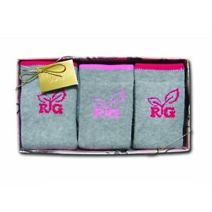 Realtree Girl Ladies Girls 3 Pack Socks Gift Box - Medium 9-11 Boot
