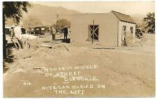 RPPC – Flood Damage in Glendale California 1938 – House Moved & Car Buried