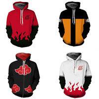Naruto0 Hokage Ninjia Hoodie Cosplay Costume Hooded Jacket Pullover Sweatshirts