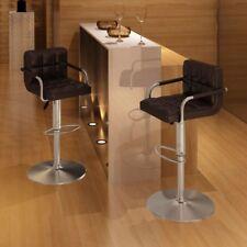 Vidaxl 2 pz sedie da Bar marroni con braccioli