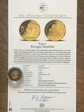 BELGIQUE 12,5 EURO 2015 Reine Mathilde *QP* OR - GOLD - GOUD