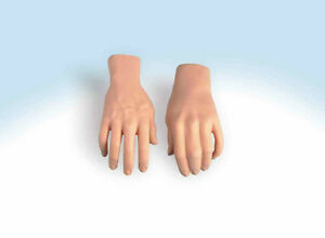ADULT FAKE STAGE HANDS HARD PLASTIC FAKE PAIR LEFT RIGHT HAND PROP HALLOWEEN