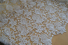 Blossom Bridal Evening Dress DIY Ivory Guipure Embroidery Costume Lace Fabric 1Y