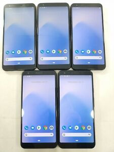 LOT of 5 Google Pixel 3a XL G020C/A 64GB GSM Unlocked Assorted Smartphone A111L