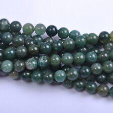 40Pcs Natural Aquatic agate Gemstone Round Spacer Loose Beads 4MM #8