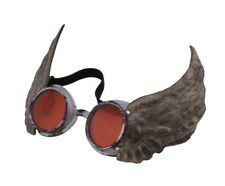 SteamPunk Cosplay Victorian CyberSteam Winged Aviator Goggles Silver/Red, UNWORN
