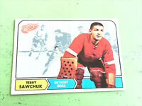 1968-69 O-Pee-Chee OPC #34 Terry Sawchuk Detroit Red Wings High Grade See Photos
