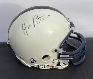 Joe Paterno & Lavar Arrington SIGNED Penn State Riddell Mini Football Helmet COA