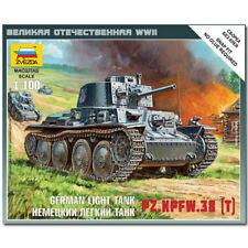 ZVEZDA 6130 German 38t Tank Snap Fit Military Model Kit 1:100