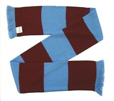 Aston Villa Supporters Claret and Blue Retro Bar Scarf  - Made in the UK