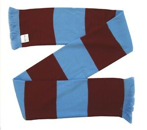 Scunthorpe United Supporters Claret and Blue Retro Bar Scarf  - Made in the UK