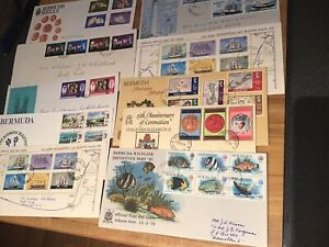 Ten Bermuda First Day Covers.
