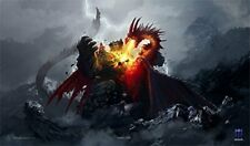 1x Max Protect DEATH GRIP Playmat DRAGON ART for Magic MTG Play Mat