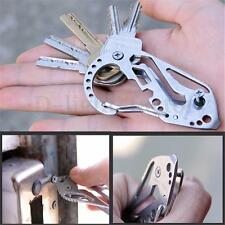 EDC Gear Key Holder Clip Folder Keychain Carabiner Screwdriver Multi Pocket Tool