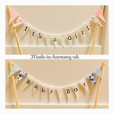 Fatto a mano cake topper baby shower/New Born/Baby Girl/Boy