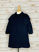 Red Rothschild Girls 100% Wool Coat - Size 4 Color Ink