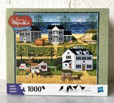 Charles Wysocki Gull's Nest 1000 Piece Milton Bradley Puzzle - Complete