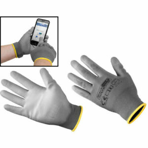 GREY SMART TOUCH PALM GLOVES SIZE LARGE WORK GLOVES FREE DELIVERY