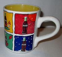 RARE Four Seasons COCA COLA Gibson Ceramic Coffee Cup Mug 1998 WINTER-FALL