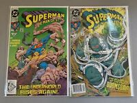 SUPERMAN THE MAN OF STEEL #17 & 18 ==> 1ST APPEARANCES OF DOOMSDAY DC 1992