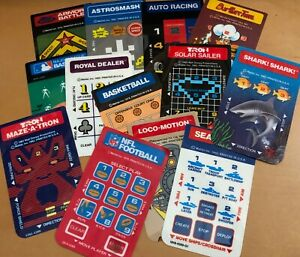 Original Overlays for Mattel Electronics Intellivision games