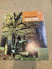 Vintage nice as found John Deere 1020 1520 2020 farm tractor literature jd 20