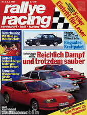 Rallye Racing 5/88 1988 BMW 318i M3 Peugeot 205 GTI Opel Kadett GSi Toyota Supra