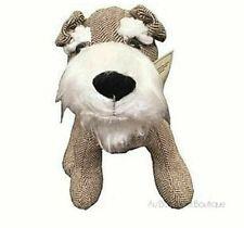 Celtic Weavers, 'Terrier Dog' Irish Herringbone Wool Tweed Weighted Door Stop