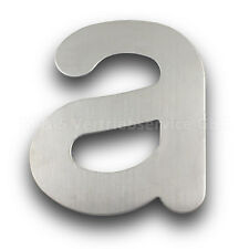 "Edelstahl Hausnummer Buchstabe ""A"" 200mm Hausschild Wohnungsnummer Zimmernummer"