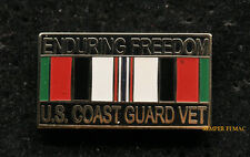 OPERATION ENDURING FREEDOM OEF US COAST GUARD HAT PIN UP USCG ANCHOR MR 2177 WOW