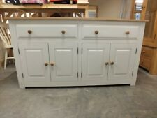 HAMPSHIRE PAINTED 4 DOOR 2 DRAWER SIDEBOARD /SOLID PINE - SOLID OAK - IVORY