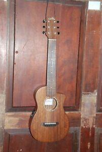Cordoba Mini O-CE Cutaway Acoustic Electric Travel Guitar, Satin With Gig Bag